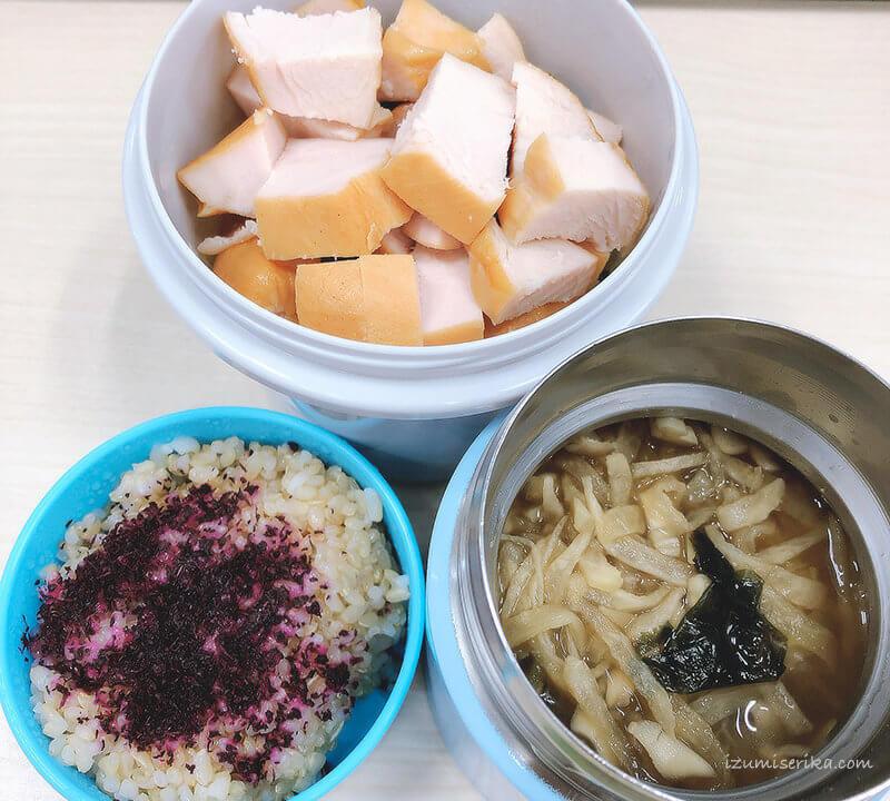 簡単で高タンパクなお弁当玄米