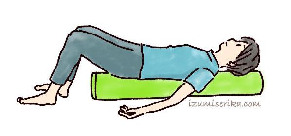 ストレッチポールの使い方1-女性におすすめのストレッチグッズ